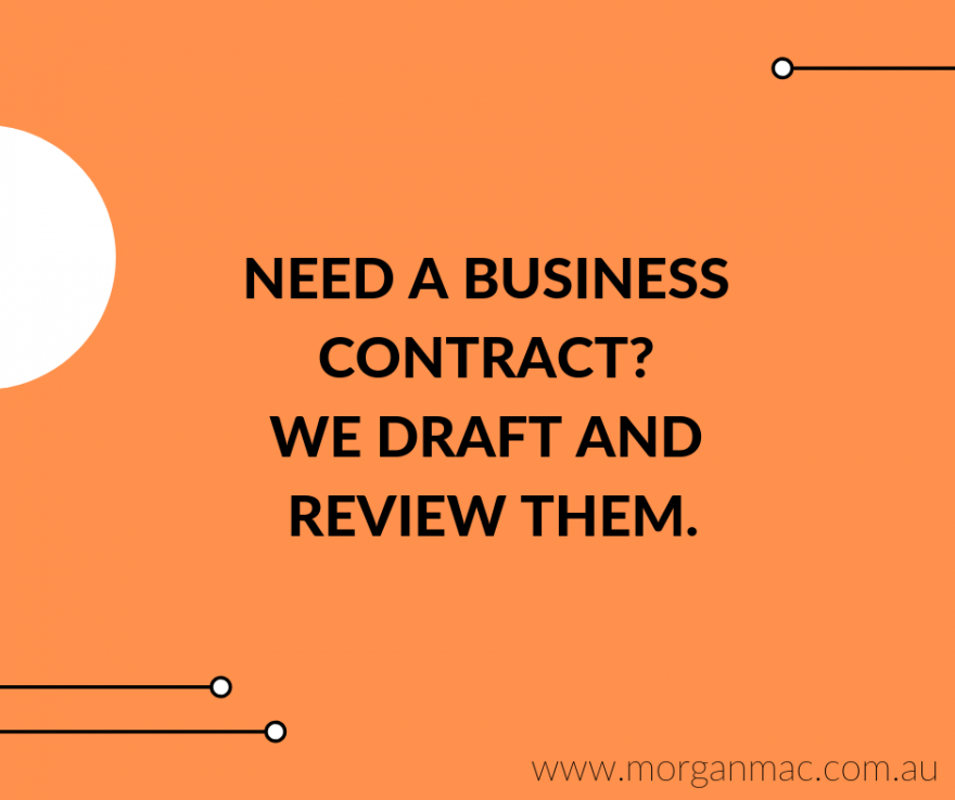 Morgan Mac Lawyers - business contract